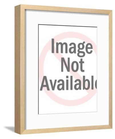 Silhouette of Devil Holding Pitchfork-Pop Ink - CSA Images-Framed Art Print