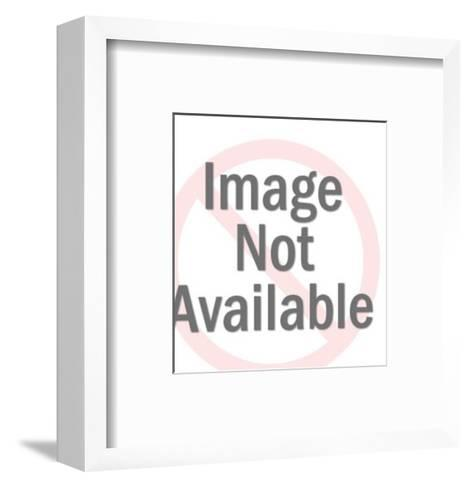 Man in Hat Gesturing-Pop Ink - CSA Images-Framed Art Print