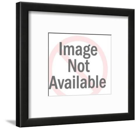 Man Slashing Dollar Sign With Sword-Pop Ink - CSA Images-Framed Art Print