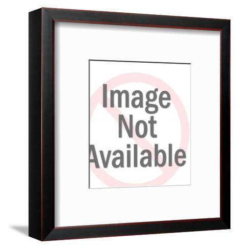 Man Wearing Tiny Hat-Pop Ink - CSA Images-Framed Art Print