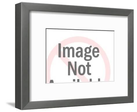 Silhouette of Rabbit-Pop Ink - CSA Images-Framed Art Print