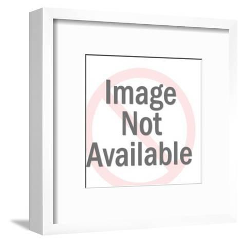 Monster With Sword Poking Man-Pop Ink - CSA Images-Framed Art Print