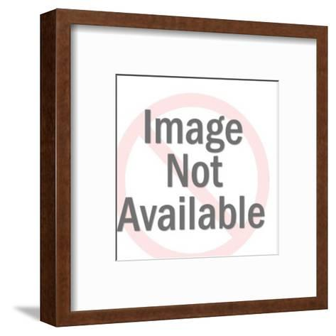Man Laughing at Book-Pop Ink - CSA Images-Framed Art Print