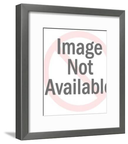 Defiant Man Giving Hand Sign-Pop Ink - CSA Images-Framed Art Print