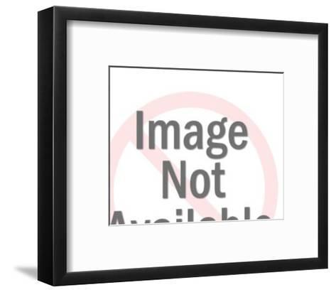Woman Weighing Large Cupcake-Pop Ink - CSA Images-Framed Art Print