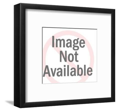 Man Lying Down and Thinking-Pop Ink - CSA Images-Framed Art Print