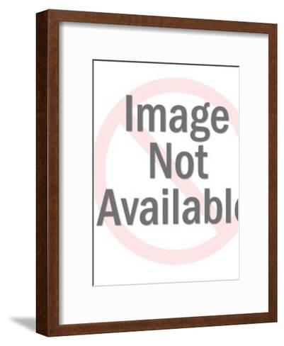 Man Wearing Tiny Swim Trunks-Pop Ink - CSA Images-Framed Art Print