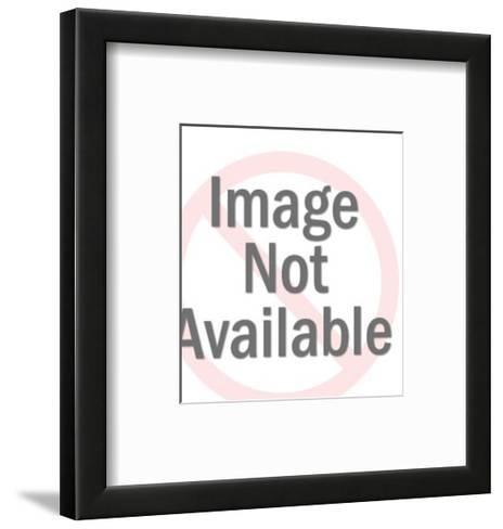 Worker on I-Beam-Pop Ink - CSA Images-Framed Art Print