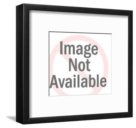 Couple Sitting Apart on Couch-Pop Ink - CSA Images-Framed Art Print