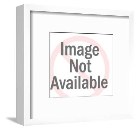 Man Sitting At Desk-Pop Ink - CSA Images-Framed Art Print