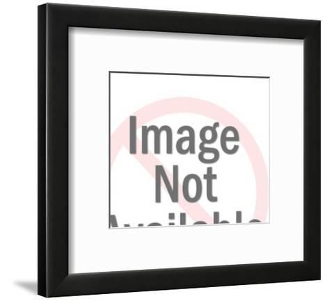 Man Rolling Out Carpet-Pop Ink - CSA Images-Framed Art Print