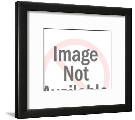 Woman Wearing Crown Holding Tray-Pop Ink - CSA Images-Framed Art Print