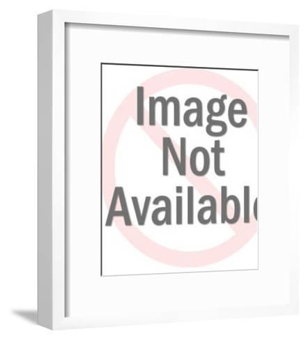 Meowing Black Cat-Pop Ink - CSA Images-Framed Art Print