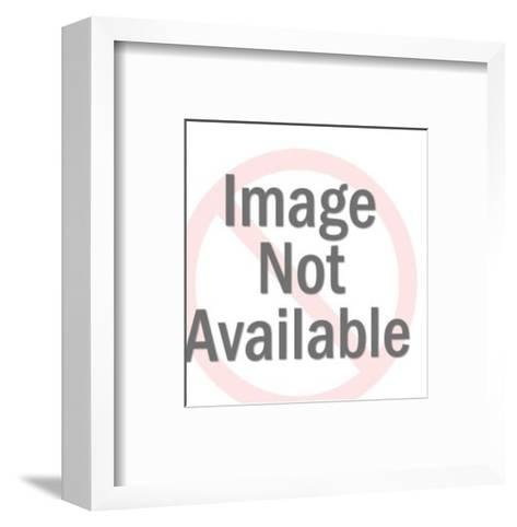 Surprised Cow-Pop Ink - CSA Images-Framed Art Print