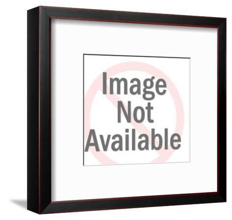 Man Wearing Glasses Pointing-Pop Ink - CSA Images-Framed Art Print