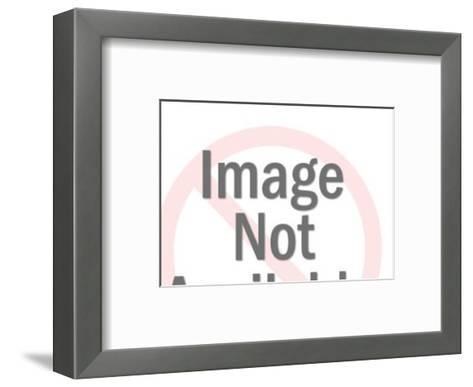 Men Peering Over Edge-Pop Ink - CSA Images-Framed Art Print