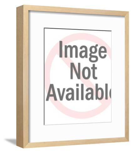 Man Holding Giant Lightbulb-Pop Ink - CSA Images-Framed Art Print