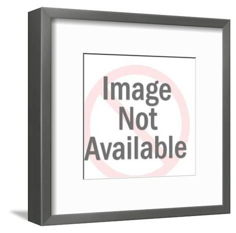 Silhouette of Ram on Rocks-Pop Ink - CSA Images-Framed Art Print