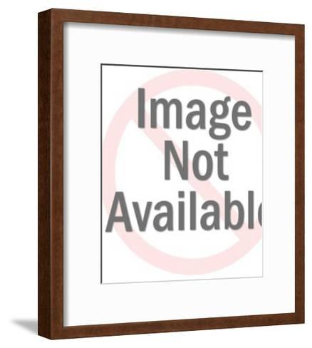 Chef Holding Pan-Pop Ink - CSA Images-Framed Art Print