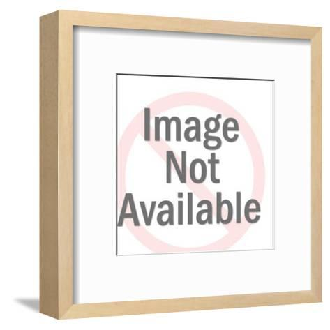 Happy Pig-Pop Ink - CSA Images-Framed Art Print