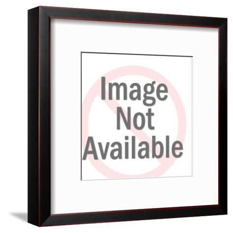 Cowboy Lassoing Calf-Pop Ink - CSA Images-Framed Art Print