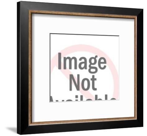 Bird on Branch-Pop Ink - CSA Images-Framed Art Print