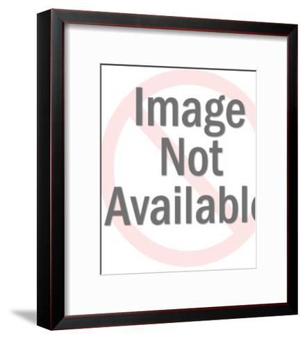Man Pushing Garbage Can-Pop Ink - CSA Images-Framed Art Print