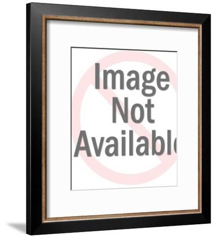 Man Wearing Racoon Hat Carrying Gun-Pop Ink - CSA Images-Framed Art Print