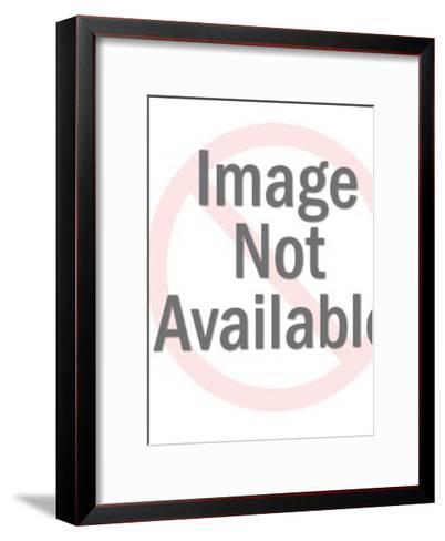 Woman Posing in Cloth-Pop Ink - CSA Images-Framed Art Print