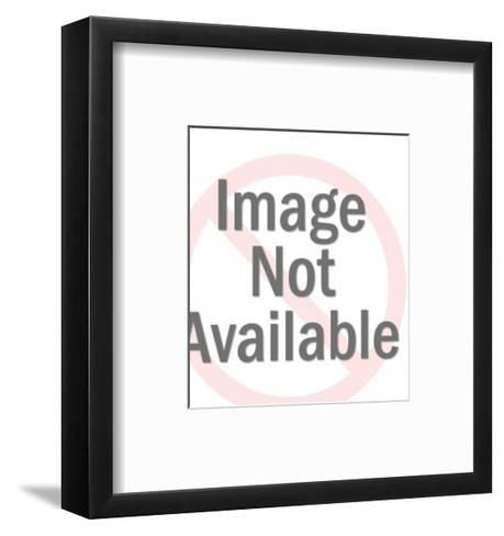 Smiling Dark Haired Lady-Pop Ink - CSA Images-Framed Art Print