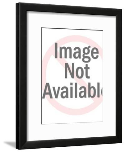 Man Wearing Hat and Trench Coat-Pop Ink - CSA Images-Framed Art Print