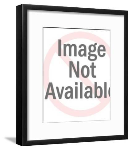 Woman Holding Glass of Wine-Pop Ink - CSA Images-Framed Art Print