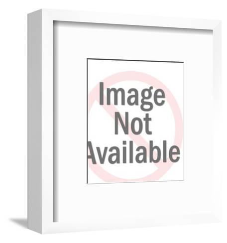 Captian At Wheel of Ship-Pop Ink - CSA Images-Framed Art Print