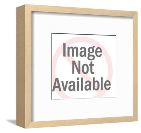 Bear Holding Blank Sign-Pop Ink - CSA Images-Framed Art Print