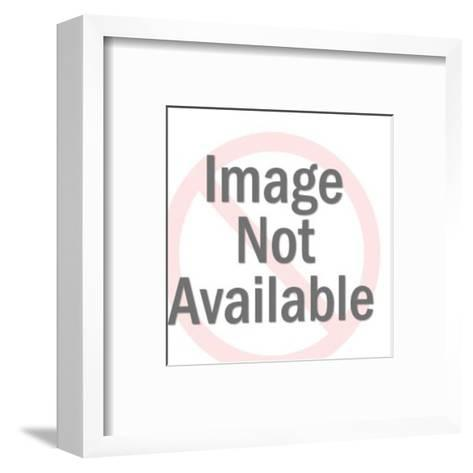 Woman Smiling Wide-Pop Ink - CSA Images-Framed Art Print