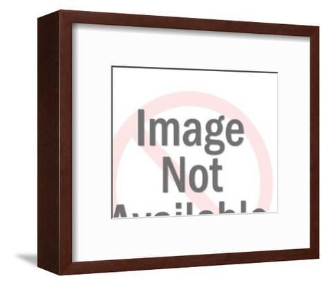 Family Watching TV-Pop Ink - CSA Images-Framed Art Print
