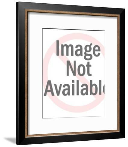 Girl Holding a Glass with Straws-Pop Ink - CSA Images-Framed Art Print