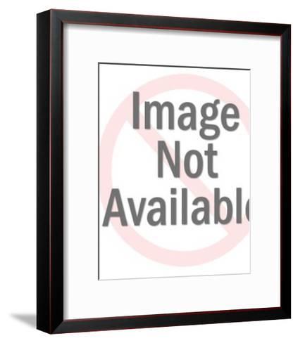 Woman Smoking a Cigarette-Pop Ink - CSA Images-Framed Art Print