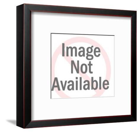 Man Turning Large Pressure Valve-Pop Ink - CSA Images-Framed Art Print