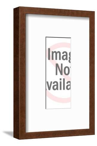 Man Using Cane-Pop Ink - CSA Images-Framed Art Print