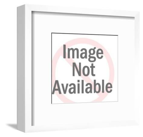 Dog Silhouette-Pop Ink - CSA Images-Framed Art Print