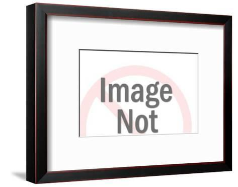 Steer Silhouette-Pop Ink - CSA Images-Framed Art Print