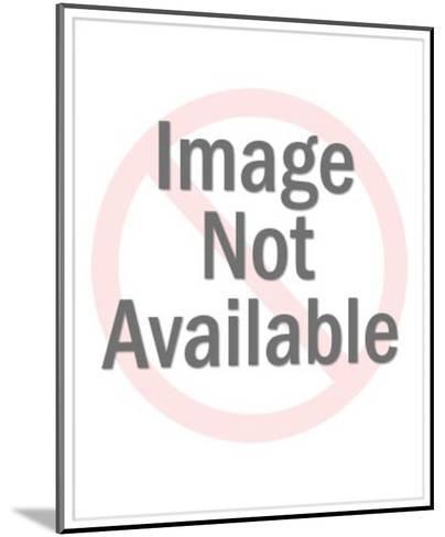 Steer Silhouette-Pop Ink - CSA Images-Mounted Art Print