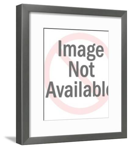 Close up of Dark Haired Woman Looking Sideways-Pop Ink - CSA Images-Framed Art Print