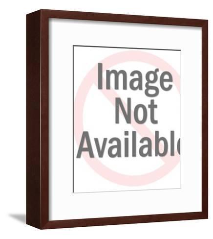 Dark Haired Woman-Pop Ink - CSA Images-Framed Art Print