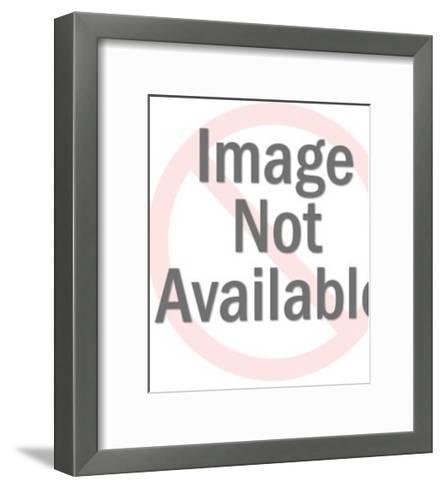 Concerned Dark Haired Man-Pop Ink - CSA Images-Framed Art Print