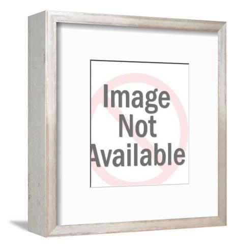 Dark Haired Man Holding Woman-Pop Ink - CSA Images-Framed Art Print
