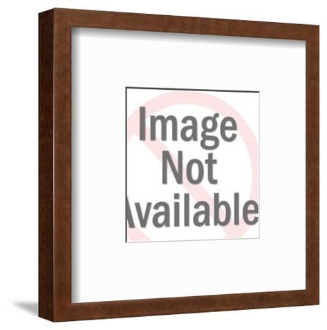 Bulldog Looking Sideways-Pop Ink - CSA Images-Framed Art Print