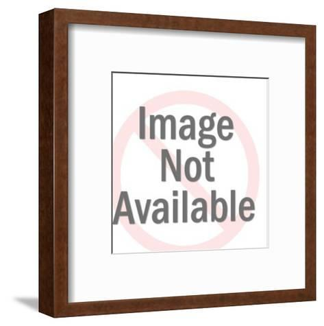 Smiling Dark Hair Man-Pop Ink - CSA Images-Framed Art Print