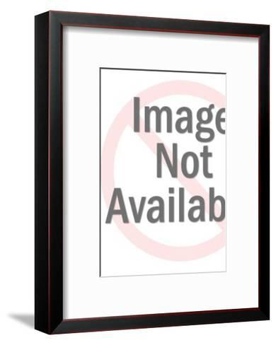 Silhouette of Woman Vacuuming-Pop Ink - CSA Images-Framed Art Print